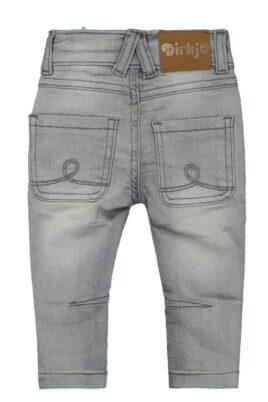 Baby Basic Jeans Hose grau lange Jeans in Used Optik mit Naht-Stitching Denim moderne Waschung - Kinder Mädchen Denim Jeanshose von DIRKJE - Rückansicht