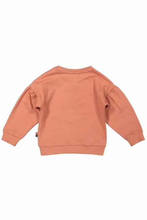 Baby Sweatpullover in Rosa Langarmshirt in Altrosa Longsleeve mit Herzen Ballon Motiv & breite Bündchen für Mädchen - Rundhalsausschnitt Kinderpullover von DIRKJE - Rückansicht