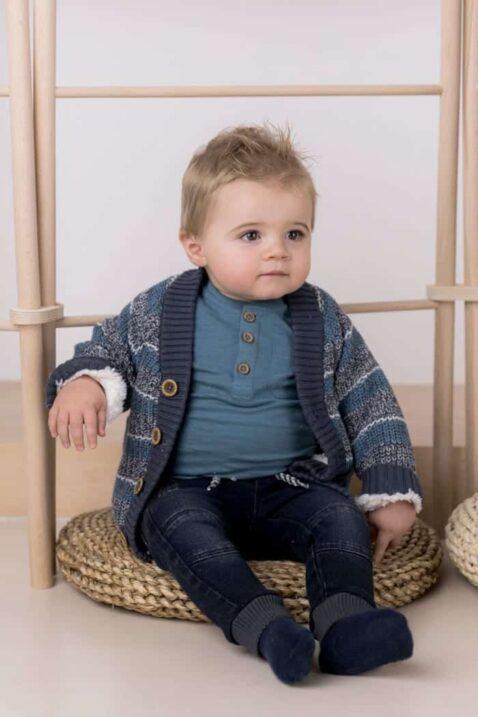 Baby Jeans dunkelblau lange Hose in Used Look robuste Waschung - mehrfarbige Strickjacke Kinder Sweatshirt blau für Jungen - Kinder Sweathose voN Dirkje - Babyfoto Kinderfoto