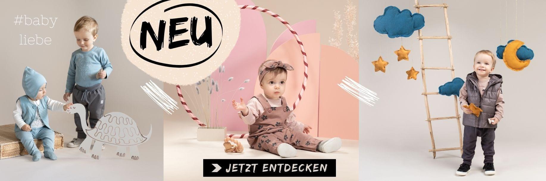 Babymode Kindermode 2021 - Latzhosen, Pumphosen, Langarmshirts & Mützen von PINOKIO