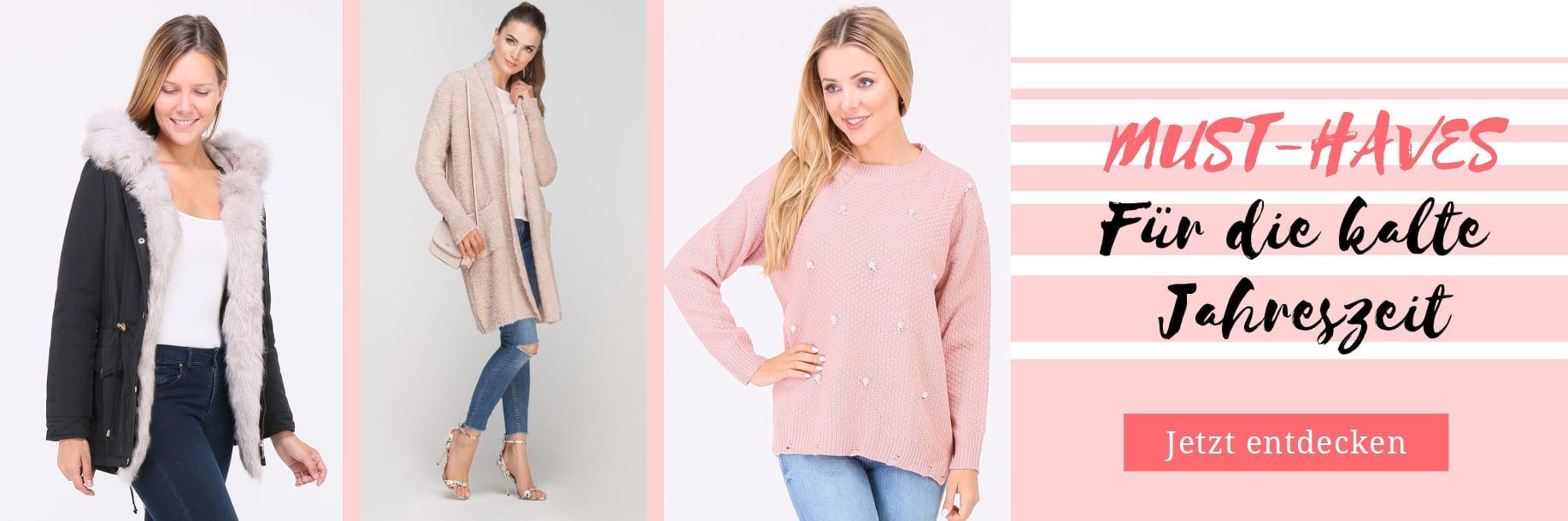 Must haves für die kalte Jahreszeit 2019 - Pullover & Winterjacken für Damen